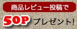 商品レビュー投稿で50ポイントプレゼント!